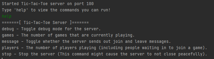 The server prompt.